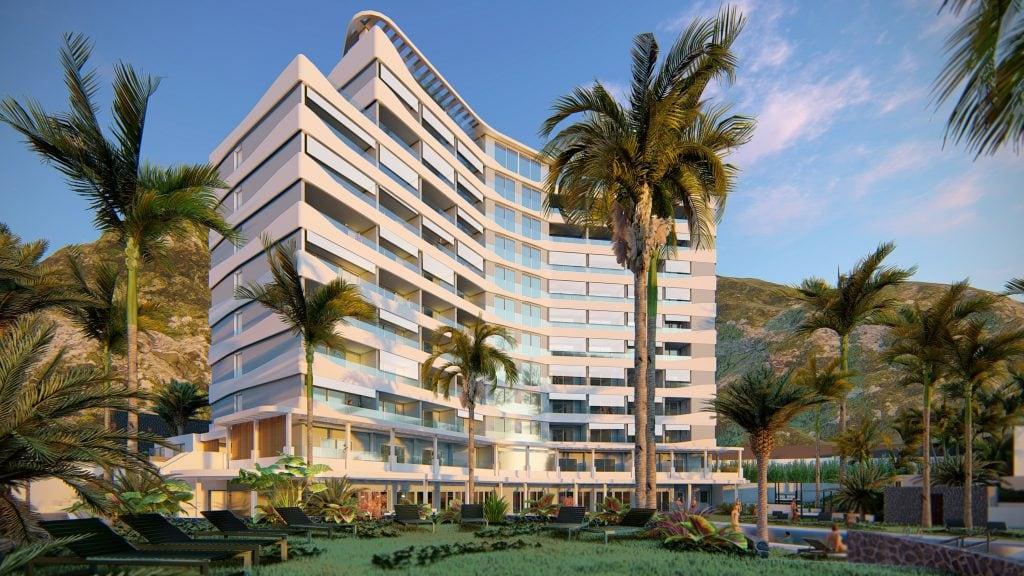 Hotel über dem Meer